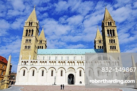 Basilica, Cathedral on Cathedral Square, Pecs, European Capital of Culture 2010, Hungary, Europe