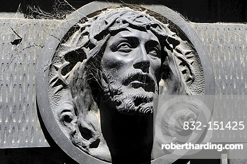 Jesus relief, La Recoleta Cemetery, Buenos Aires, Argentina, South America