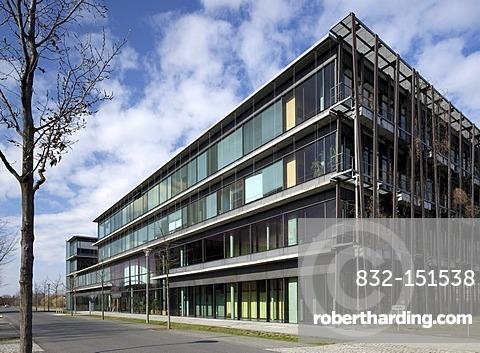Lise-Meitner-Haus building, Institute of Physics, Humboldt-Universitaet university, Wissenschaftsstadt Adlershof Science City, Berlin, Germany, Europe