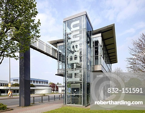 H-Bahn station, elevated railway, Dortmund Technology Park, Dortmund, Ruhr Area, North Rhine-Westphalia, Germany, Europe