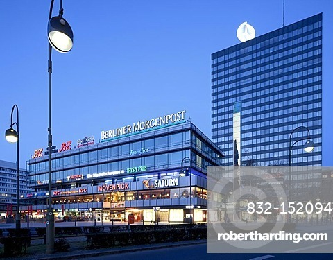 Europa Center shopping mall, Charlottenburg district, Berlin, Germany, Europe