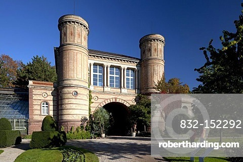 Botanical garden in the castle gardens, Karlsruhe, Baden-Wuerttemberg, Germany, Europe