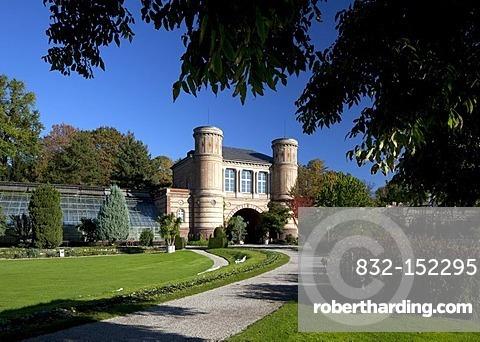 Botanical garden in the castle gardens, Karlsruhe, Baden-Wuerttemberg, Germany, Europe