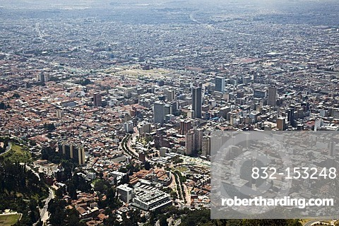 View from Mt. Monserrate Hill on the city, Bogota, Colombia, South America