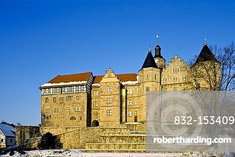 Schloss Bertholdsburg castle, Schleusingen, Thuringia, Germany, Europe