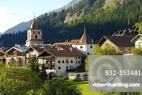 La Tuor tower, Berguen, Bravuogn, Graubuenden, Grisons, Switzerland, Europe