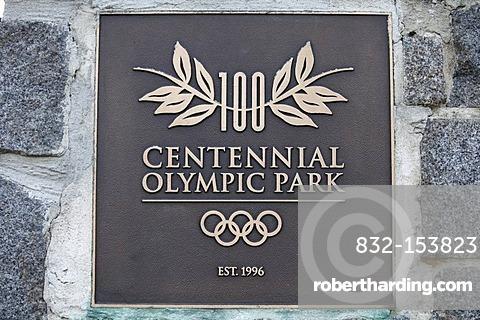 Centennial Olympic Park, Olympic Games, Atlanta, Georgia, USA, North America