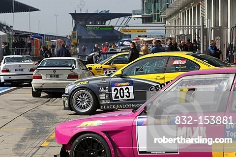 Training of the 35th DMV 4-hour race, a competition at the VLN Nuerburgring Endurance Cup, Nuerburgring race track, Rhineland-Palatinate, Germany, Europe