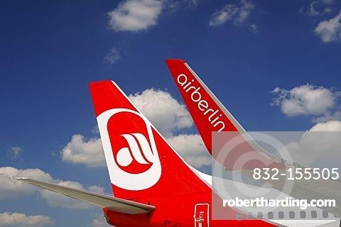 Plane, tail unit, Air Berlin, Boeing 737