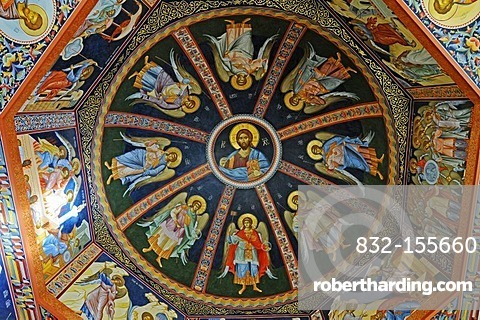 Icons, painted ceiling, Russian Orthodox Church, Altea, Costa Blanca, Alicante province, Spain, Europe