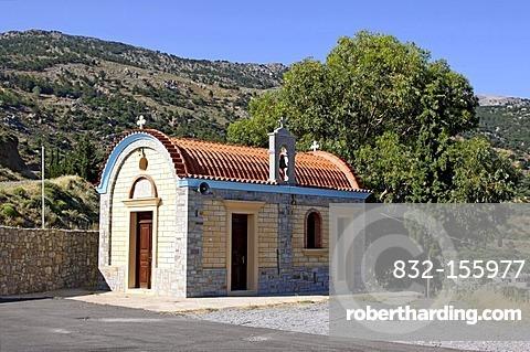 Chapel at the Memorial of Amiras, Viannos, Crete, Greece, Europe