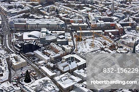 Aerial view, urban wasteland, Thiergelaende site, Dortmund, Ruhrgebiet region, North Rhine-Westphalia, Germany, Europe