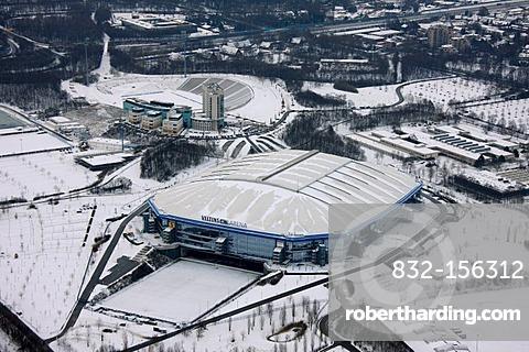 Aerial photo, SchalkeArena VeltinsArena, Gelsenkirchen, Ruhr Area, North Rhine-Westphalia, Germany, Europe