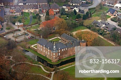 Aerial photo, Ringenberg Castle, Ringenberg, Hamminkeln, Lower Rhine, North Rhine-Westphalia, Germany, Europe