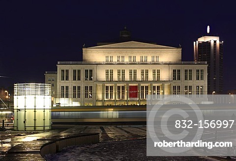 Opera, Augustusplatz Square, Leipzig, Saxony, Germany, Europe