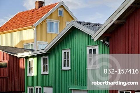 Wooden houses, Smoegen, west coast, Sweden, Scandinavia, Europe