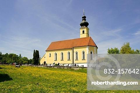 Church Mariae Geburt, Frauenried near Miesbach, Upper Bavaria, Germany, Europe