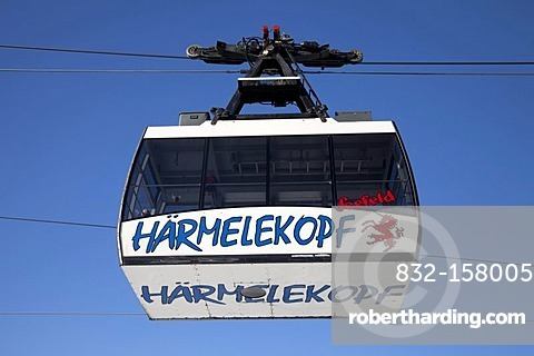 Haermelekopf cable car, cabin, Seefeld, Tyrol, Austria, Europe