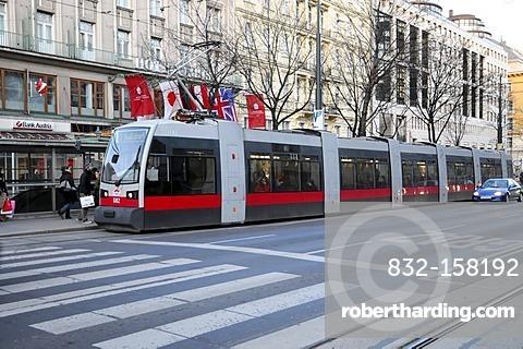 New tram, Hotel Bristol, Vienna, Austria, Europe
