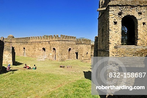 Historic Emperor Bakaffa Banqueting Hall, Royal Enclosure Fasil Ghebbi, UNESCO World Heritage Site, Gonder, Gondar, Amhara, Ethiopia, Africa