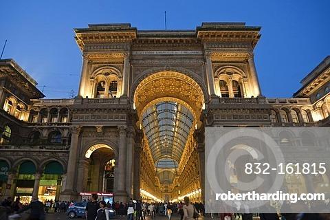 Galleria Vittorio Emanuele II shopping mall, arcade, Milan, Lombardy, Italy, Europe, PublicGround