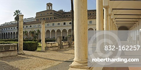 Cloister of the former Carthusian monastery, now Terme Museum, National Museum of Rome, Lazio, Italy, Europe