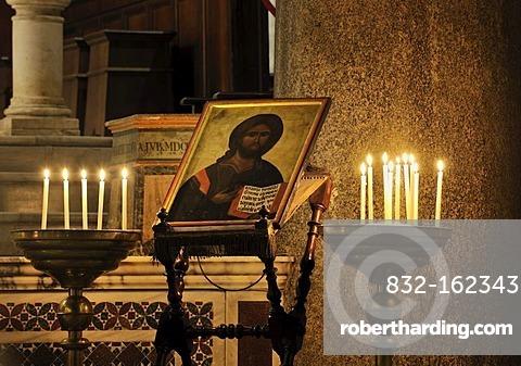 Icon in Santa Maria, Trastevere, Rome, Italy, Europe