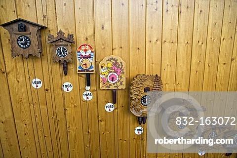 Cuckoo clock factory, Gernrode, Harz, Saxony-Anhalt, Germany, Europe