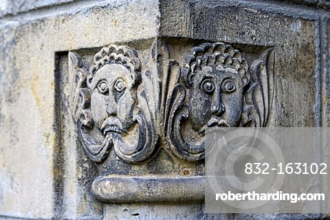 Capital in the collegiate church of St. Cyriakus, Gernrode, Harz, Saxony-Anhalt, Germany, Europe