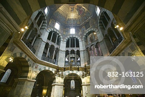Aachen Cathedral or Imperial Cathedral in Aachen, North Rhine-Westphalia, Germany, Europe
