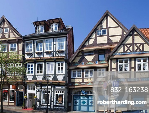 Half-timbered houses, Celle, Lower Saxony, Germany, Europe