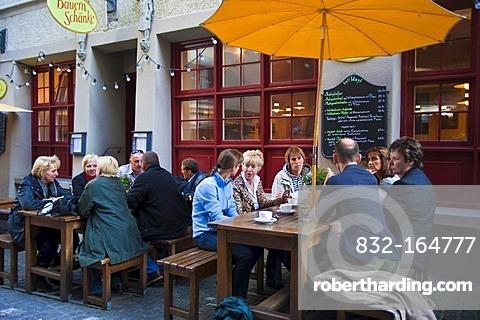 Street restaurant, pedestrian area, historic town, Zurich, Switzerland, Europe