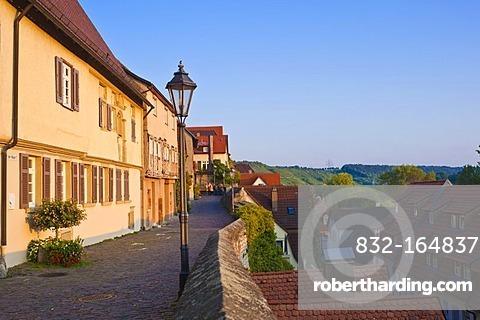 Auf der Mauer lane, old town, Besigheim, Neckartal, Baden-Wuerttemberg, Germany, Europe