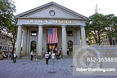 Tourists at Quincy Market, Boston, Massachusetts, New England, USA