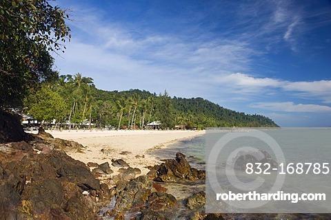 Palm beach, bay of Ko Hai or Koh Ngai island, Trang, Thailand, Asia