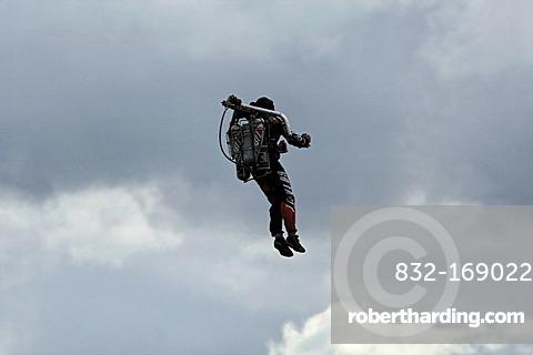 Rocket man Troy Widgery at the 2009 Avalon Air show, Melbourne, Victoria, Australia