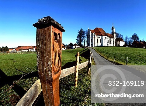 Wieskirche church, Allgaeu, Upper Bavaria, Germany, Europe