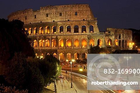 Colosseum, Via dei Fori Imperiali, Rome, Lazio, Italy, Europe