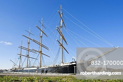 Sail training ship Passat in the port of Travemuende, Schleswig-Holstein, Germany, Europe