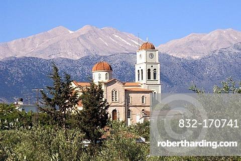 View of the White Mountains, Lefka Ori, near Vamos, Crete, Greece, Europe