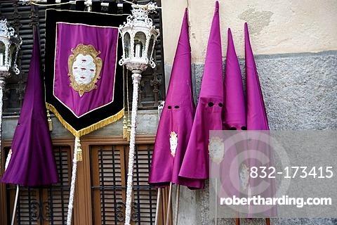 Hoods, Semana Santa, Holy Week, Palma de Majorca, Majorca, Balearic Islands, Spain, Europe