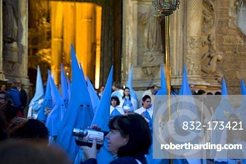 Penitents, Semana Santa, Holy Week, Palma de Majorca, Majorca, Balearic Islands, Spain, Europe