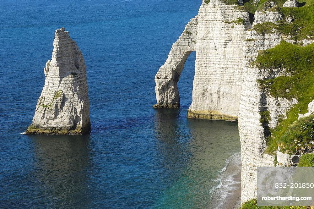Falaise D Aval Sea Cliff Etretat Stock Photo