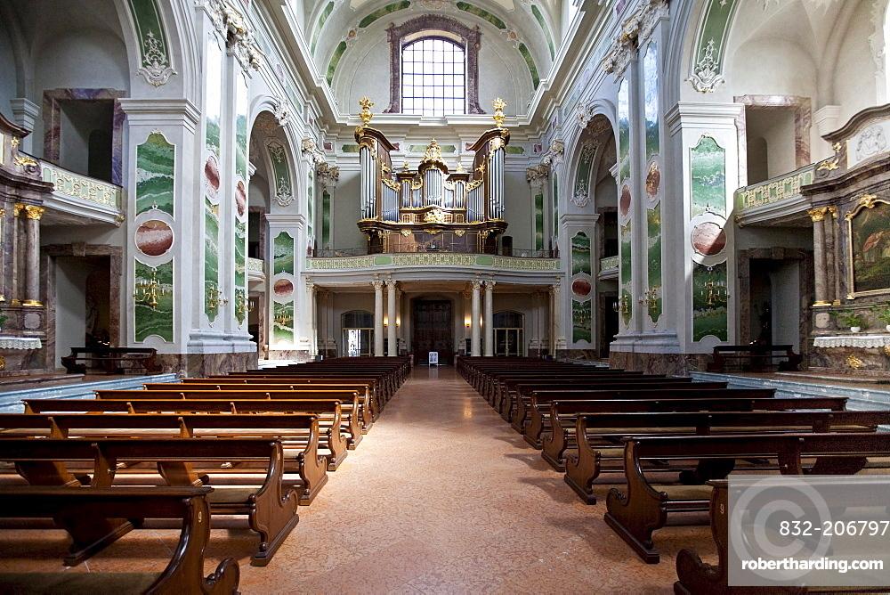 Organ in the Jesuit Church, Mannheim, Rhineland-Palatinate, Germany, Europe