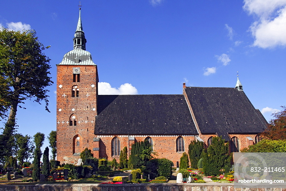 St. Nicolai Church, a triple nave hall church, Burg, Fehmarn Island, Ostholstein district, Schleswig-Holstein, Germany