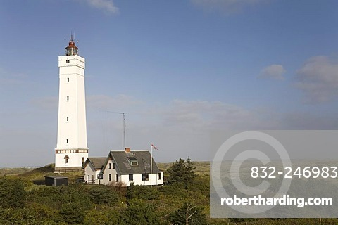 Blaavand Lighthouse, North Sea, Denmark, Scandinavia, Northern Europe