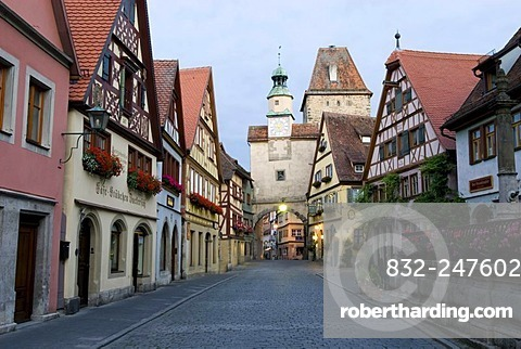 Rothenburg ob der Tauber, Middle Franconia, Bavaria, Germany, Europe