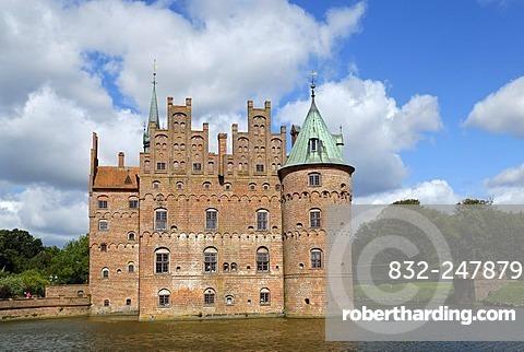 Egeskov Slot, Egenskov Castle, Funen, Denmark, Europe