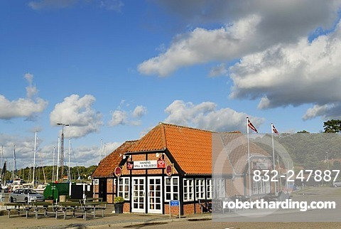 House at the harbor, Mariager, Jutland, Denmark, Europe