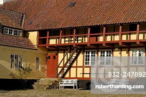 Half-timbered houses, Mariager, Jutland, Denmark, Europe